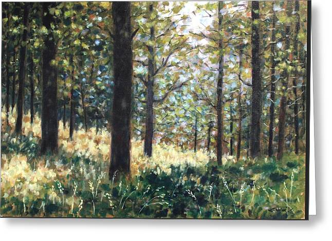 Forest- County Wicklow - Ireland Greeting Card by John  Nolan