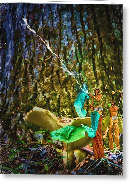 Forest Fairies Greeting Card