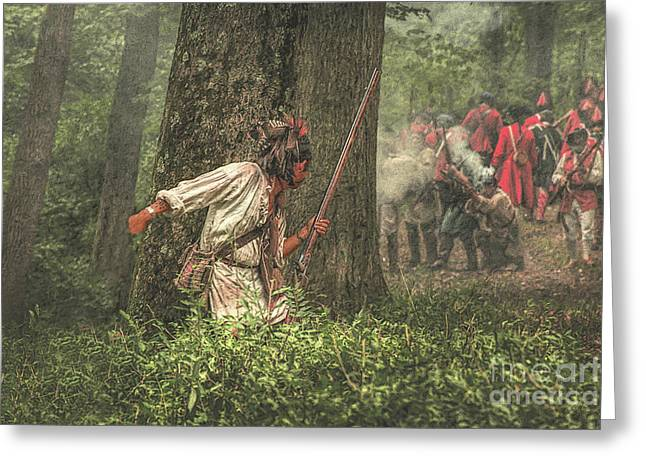 Forest Fight Greeting Card by Randy Steele
