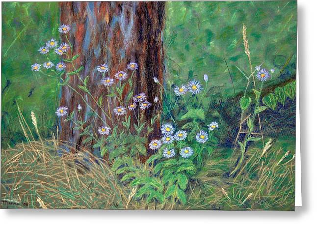 Forest Flowers Greeting Card by Marina Garrison