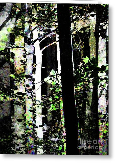 Forest For The Trees / Watercolor / Vertical  Greeting Card by Elizabeth McTaggart