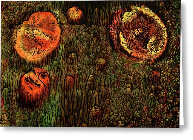 Cliche Greeting Cards - Forest Garden Greeting Card by Murray Bloom
