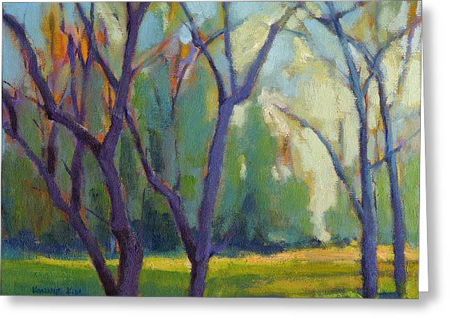 Forest In Spring Greeting Card