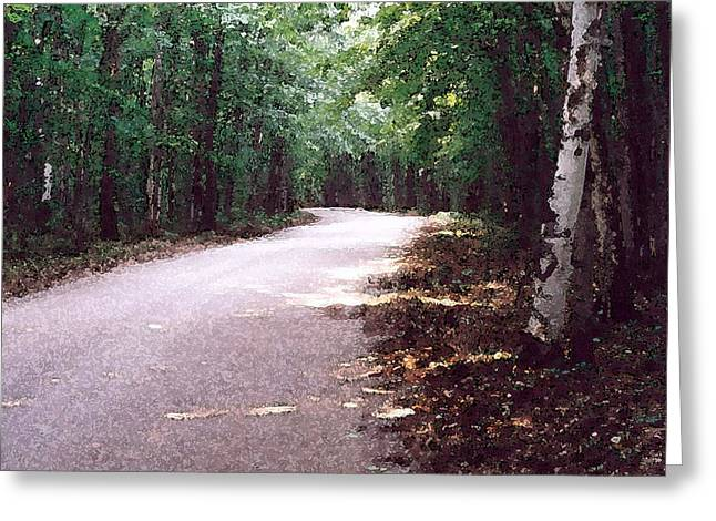 Greeting Card featuring the photograph Forest In The Road Wc 2 by Lyle Crump