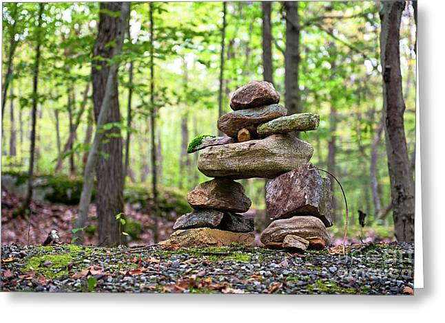 Forest Inukshuk Greeting Card