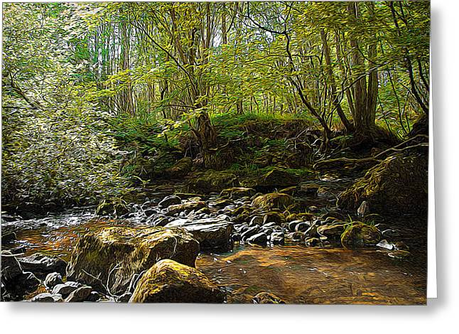 Forest Landscape Greeting Card by Svetlana Sewell