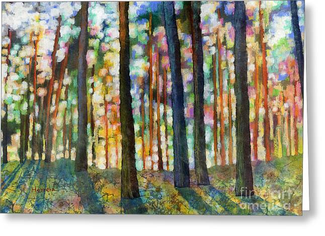 Forest Light Greeting Card by Hailey E Herrera