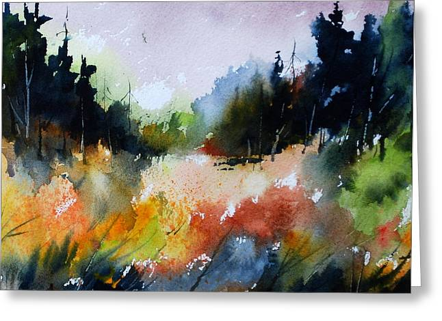 Forest Meadow Greeting Card by Wilfred McOstrich