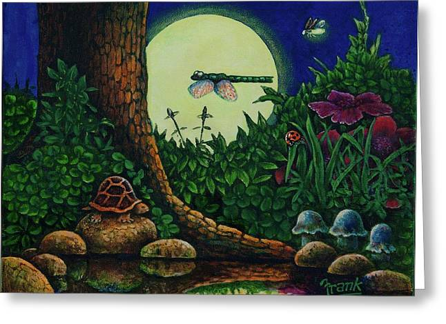 Forest Never Sleeps Chapter- Full Moon Greeting Card by Michael Frank