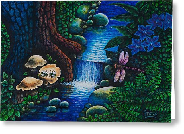 Forest Never Sleeps Chapter- Midnight Rendezvous Greeting Card by Michael Frank