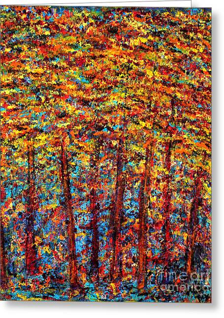 Forest On Fire Greeting Card by Melanie Dix