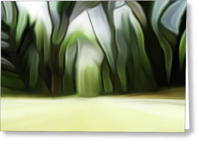 Forest Painting Greeting Card by Ralph Klein