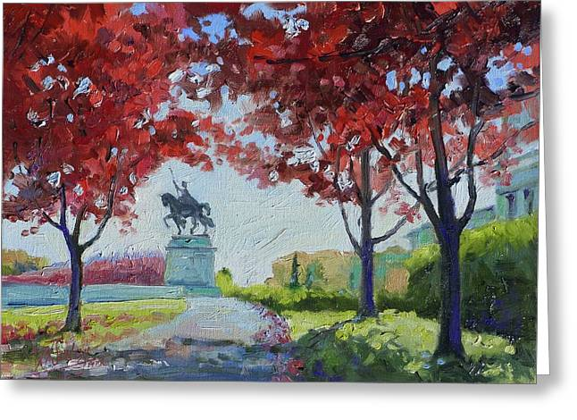 Forest Park Autumn Colors Greeting Card