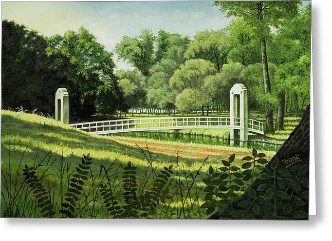 Forest Park Footbridge Greeting Card
