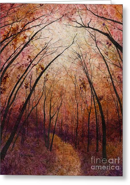 Greeting Card featuring the painting Forest Path by Hailey E Herrera