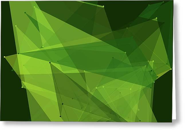 Forest Polygon Pattern Greeting Card by Frank Ramspott