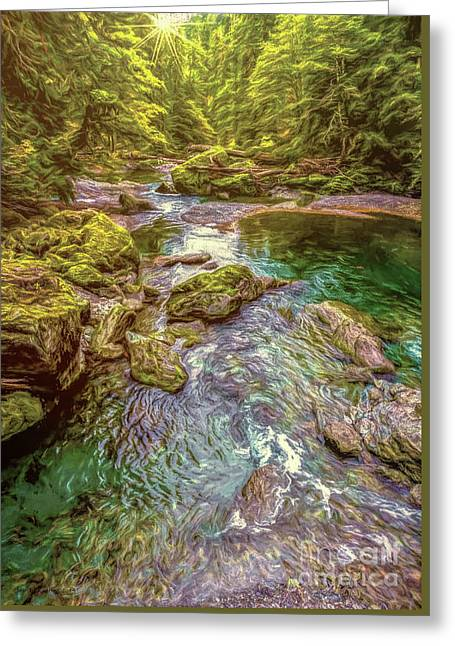 Forest Pond Greeting Card