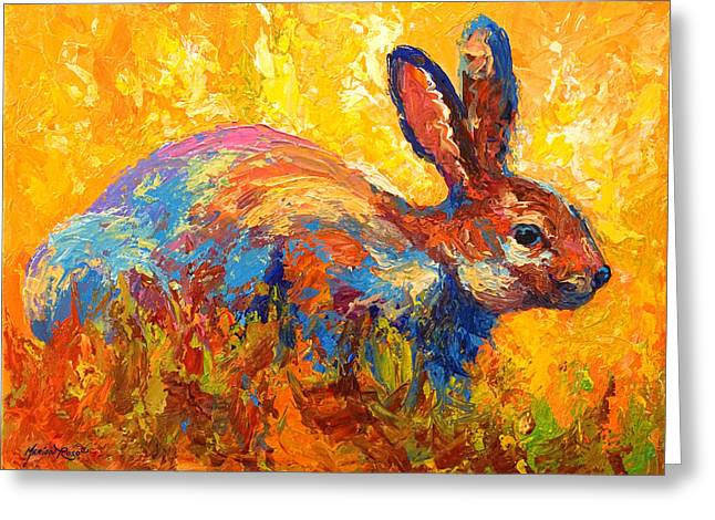 Forest Rabbit II Greeting Card by Marion Rose