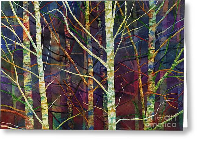 Forest Rhythm Greeting Card by Hailey E Herrera