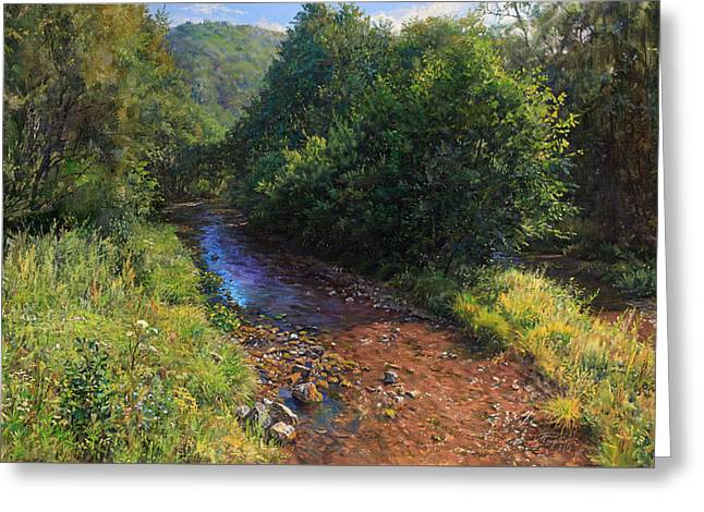 Forest River Summer Day Greeting Card