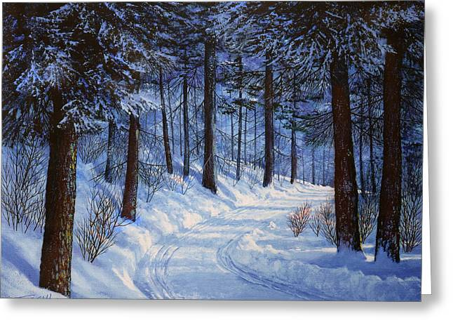 Forest Road Greeting Card by Frank Wilson