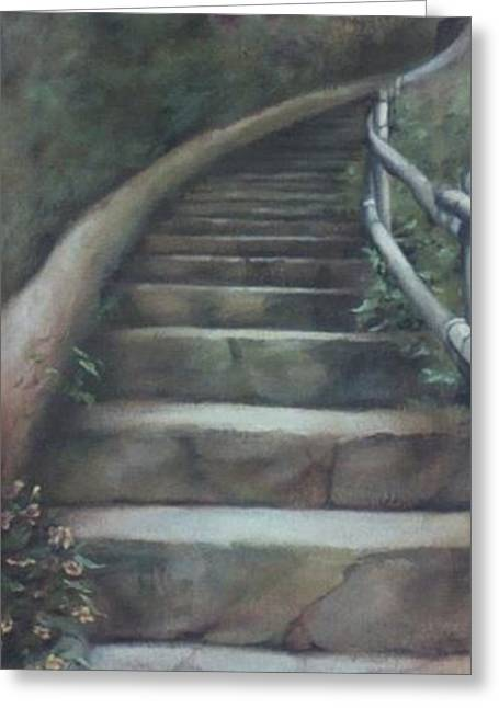 Forest Stairway Up  Greeting Card