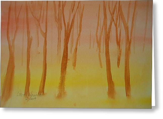Forest Study Greeting Card by Larry Hamilton