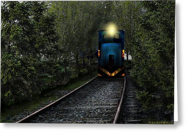 Forest Train Greeting Card