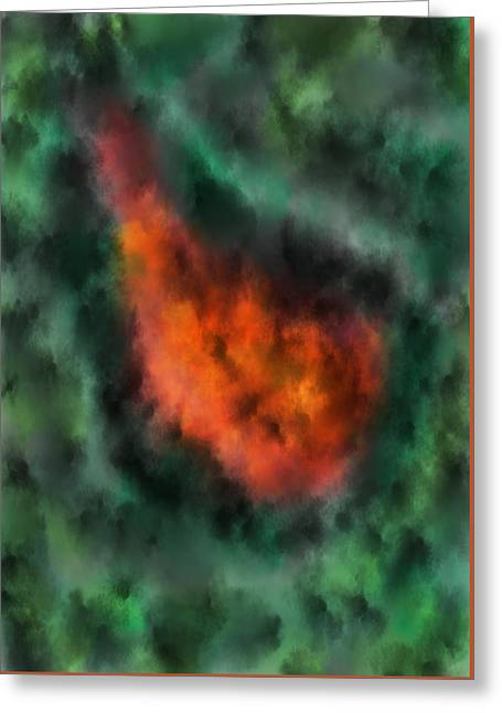 Forest Under Fire Greeting Card