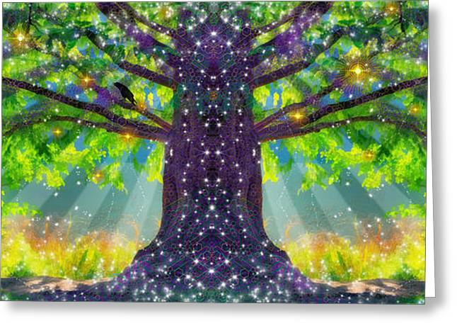 Forest Vision Greeting Card by D Walton