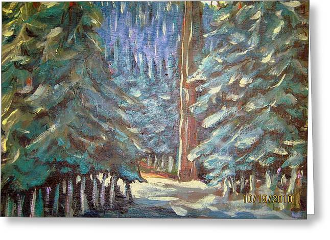 Forest Visit Greeting Card