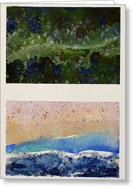 Forest X Beach Greeting Card by Max Good