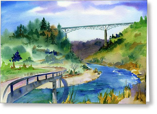 Foresthill Bridge #2 Greeting Card