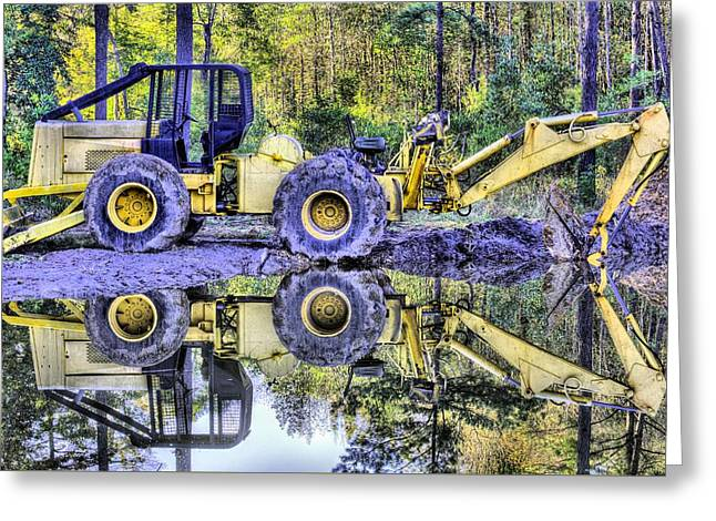 Forestry Work Greeting Card by JC Findley