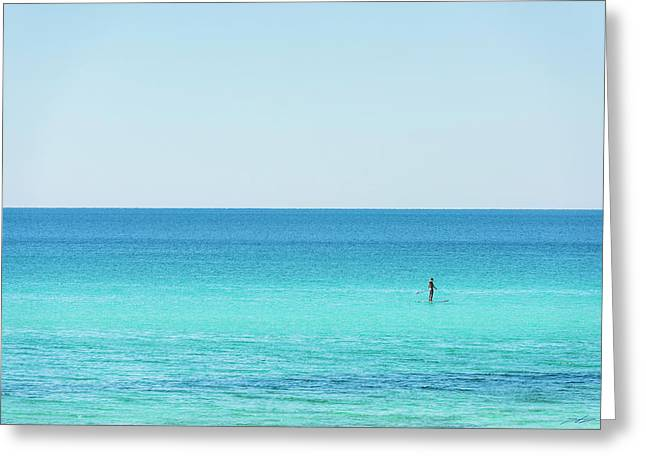 Forever Blue Gulf Paddle Greeting Card
