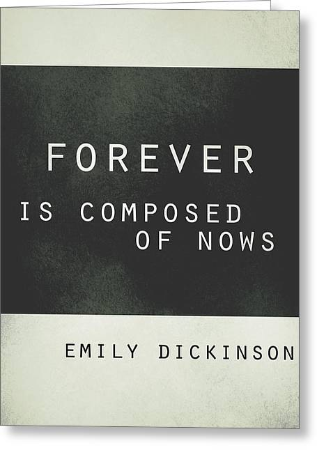 Forever Emily Dickinson Quote Greeting Card by Ann Powell