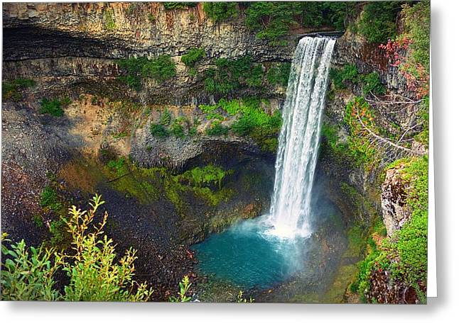 Brandywine Falls, Bc Greeting Card by Heather Vopni