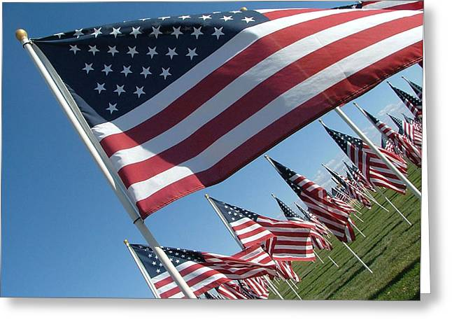 Forever Flags Greeting Card