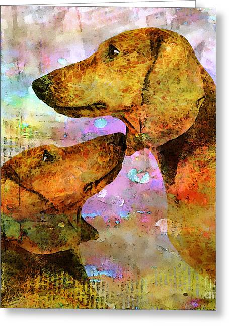 Forever Friends Greeting Card by Stacey Chiew