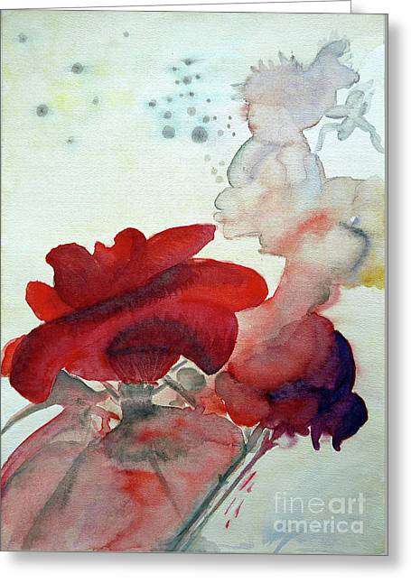 Greeting Card featuring the painting Forever by Jasna Dragun