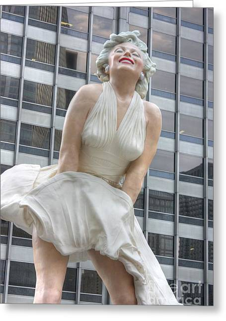 Seven Year Itch Greeting Cards - Forever Marilyn - 2 Greeting Card by David Bearden