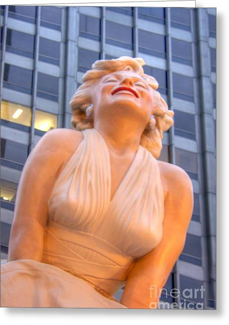 Forever Marilyn - 3 Greeting Card by David Bearden