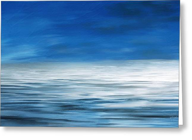 Greeting Card featuring the painting Forever Sea by Mark Taylor