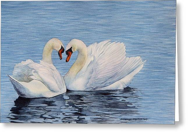 Forever Swans Greeting Card by Sharon Farber
