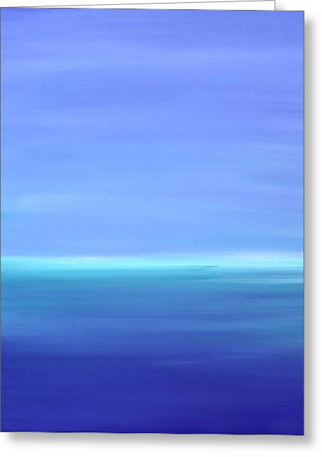 Calm Waters Paintings Greeting Cards - Forever Greeting Card by Tricia lee Kelshall