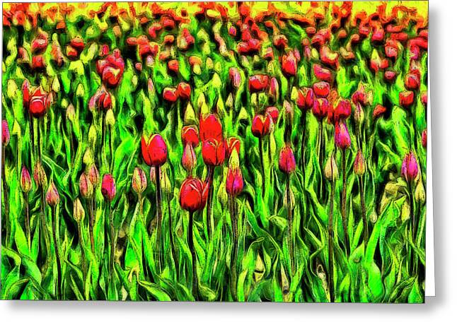Forever Tulips Greeting Card by Mark Kiver