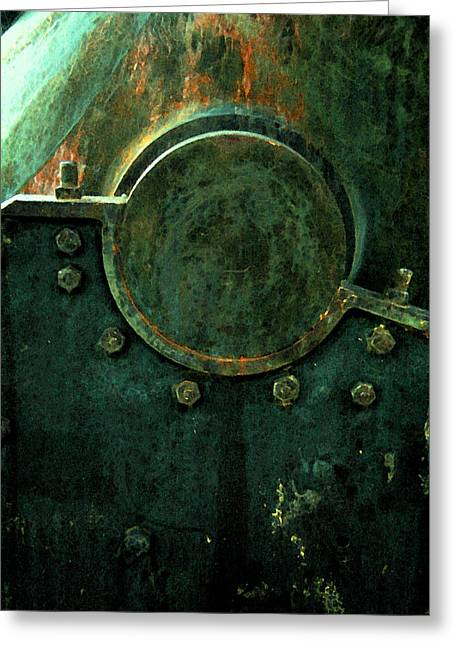 Forged In Green Greeting Card by Lucas Boyd