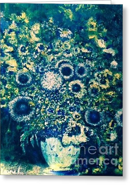 Greeting Card featuring the photograph Forget Me Knot by Laurie L