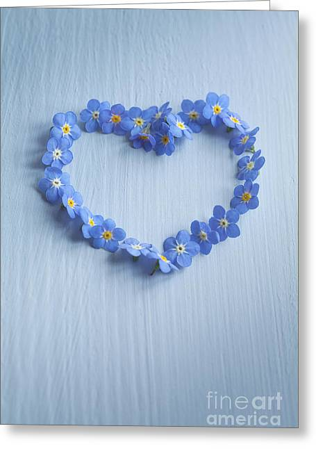 Forget Me Not Heart Greeting Card