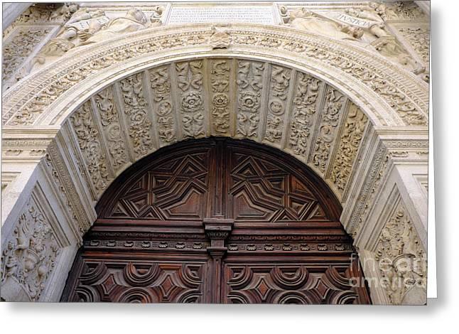 Forgiveness Door Details Granada Cathedral II Greeting Card